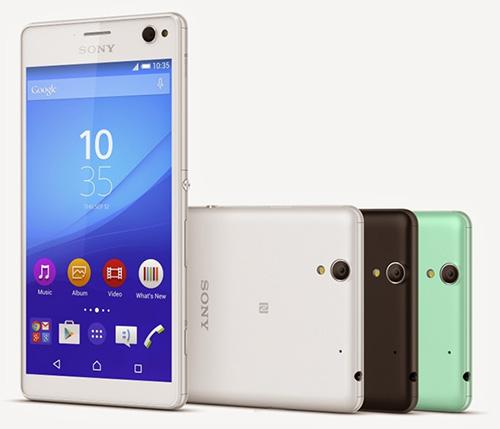 """sony chinh thuc gioi thieu smartphone chuyen """"tu suong"""" xperia c4 - 1"""