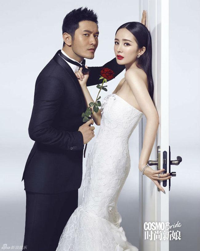 Dương Mịch và Huỳnh Hiểu Minh hiện diện trên tạp chí Cosmo Bride số mới nhất, tạo thành một cặp đôi mới với sức hút lớn.