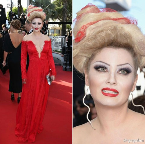 """Cười té ghế với """"thảm họa"""" tóc của sao Nga tại Cannes-11"""