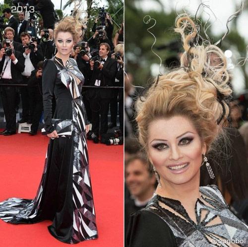 """Cười té ghế với """"thảm họa"""" tóc của sao Nga tại Cannes-13"""