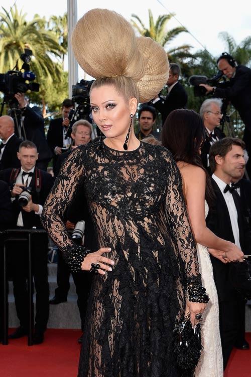"""Cười té ghế với """"thảm họa"""" tóc của sao Nga tại Cannes-3"""