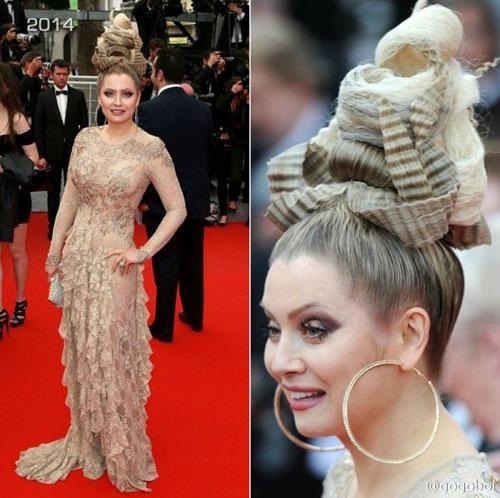"""Cười té ghế với """"thảm họa"""" tóc của sao Nga tại Cannes-4"""