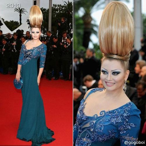 """Cười té ghế với """"thảm họa"""" tóc của sao Nga tại Cannes-10"""