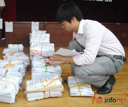 Kỳ thi THPT quốc gia: Hà Nội bàn giao hồ sơ tới các cụm thi-1
