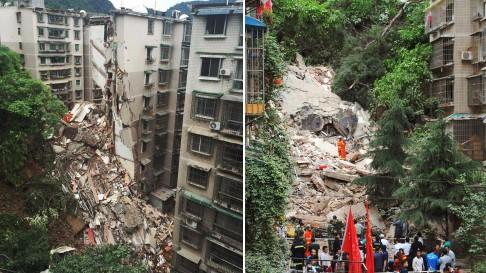TQ: Nhà 9 tầng bất ngờ đổ sập, 21 người mất tích - 2