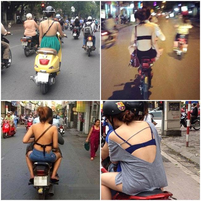 Muôn vàn những phong cách khoe lưng trần phản cảm của thiếu nữ Việt ngày nay.