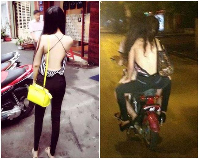 Thiếu nữ mặc cũng như không tự tin dạo phố.
