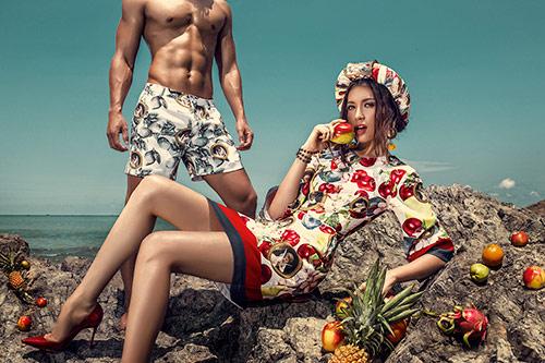 Đặng Lệ Hằng khoe vẻ đẹp ma mị bên người mẫu nam-7