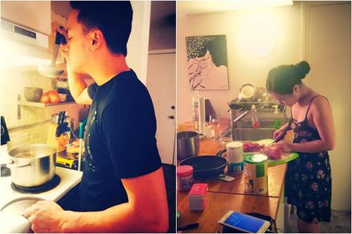 Hương Tràm nấu ăn cho Cao Thái Sơn sau tin đồn kết hôn-1