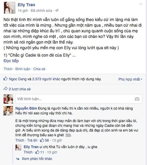 "elly tran phan phao chuyen ""cu lay tay la con dep nhu no"" - 1"