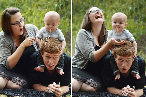 16 'tai nạn' bé tè, ị ngay lên người bố mẹ khi chụp ảnh-7