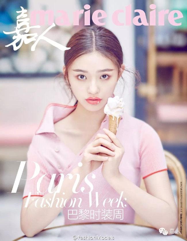 Không hẹn mà gặp, hai người đẹp của Mỹ Nhân Ngư cùng xuất hiện trên trang bìa tạp chí Marie Claire số tháng 5/2016 với phiên bản tại Trung Quốc đại lục và Hồng Kông.