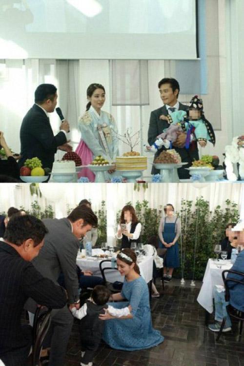 showbiz 24/7: lo anh hiem hoi cua con trai lee byung hun - 1