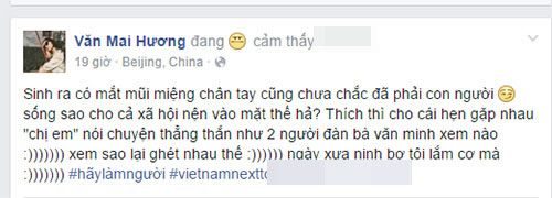 "van mai huong ""khau chien"" gay gat voi hot blogger tren mang xa hoi - 2"