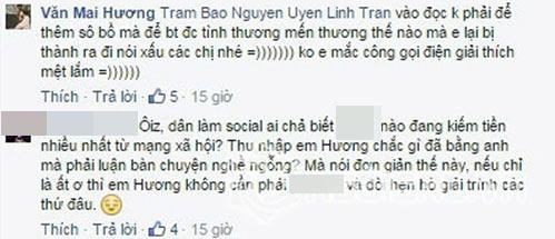 "van mai huong ""khau chien"" gay gat voi hot blogger tren mang xa hoi - 6"