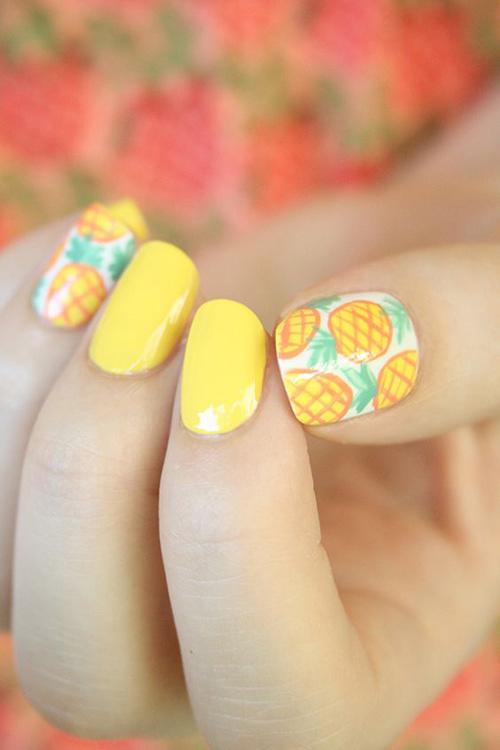 Những mẫu nail mát lạnh giúp bạn giải nhiệt mùa hè-14