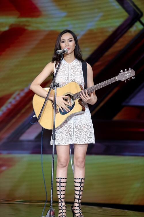 Cô gái 'chân dài như Hồ Ngọc Hà, hát như Mỹ Tâm' hút hồn giám khảo X-Factor-5