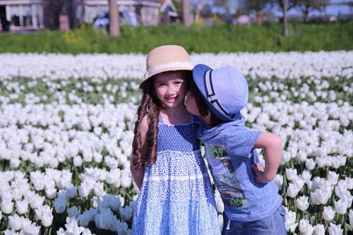 Hai thiên thần lai gốc Việt bên cánh đồng hoa Tulip đẹp như tranh-5