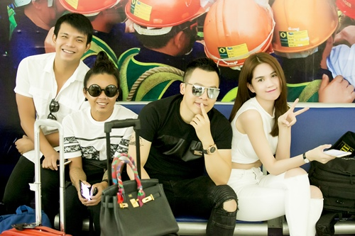 Ngọc Trinh khoe nhan sắc trẻ trung ở sân bay Singapore-5