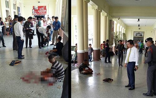 Nổ bom nhà ga trung tâm Thái Lan, 2 người bị thương-1