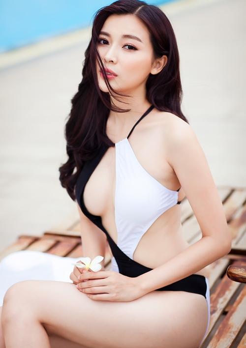 """""""Người đẹp xứ Dừa"""" khoe vẻ sexy tại hồ bơi với bikini-5"""