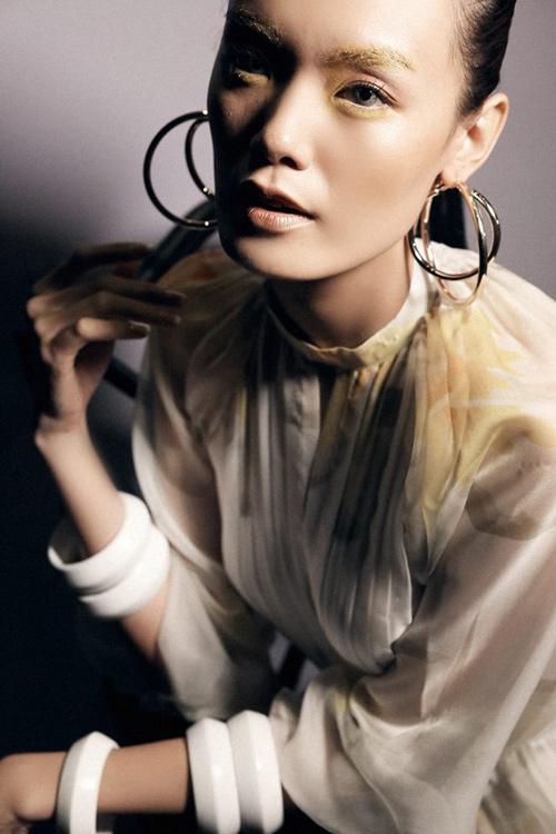 Những kiểu make-up ám ảnh trong Tuần Nhà thiết kế thời trang-13