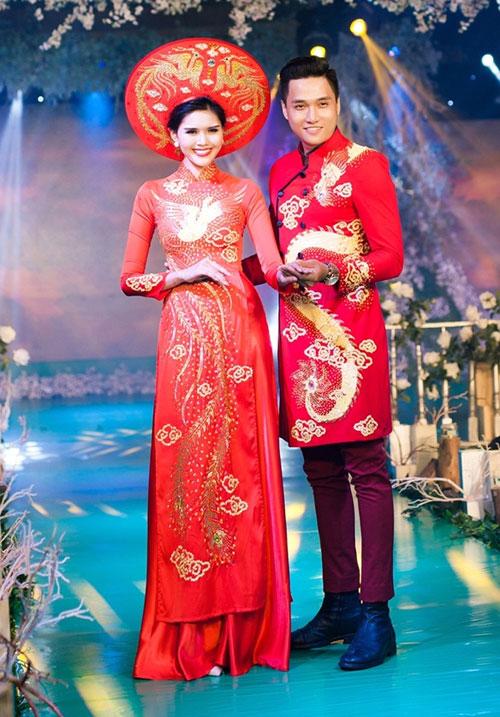 Phan Thị Mơ kiều diễm với áo dài cưới-11