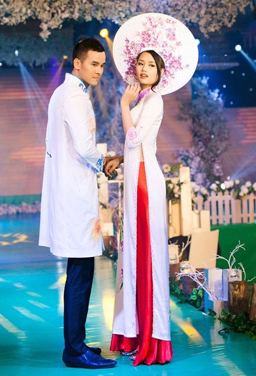 Phan Thị Mơ kiều diễm với áo dài cưới-7