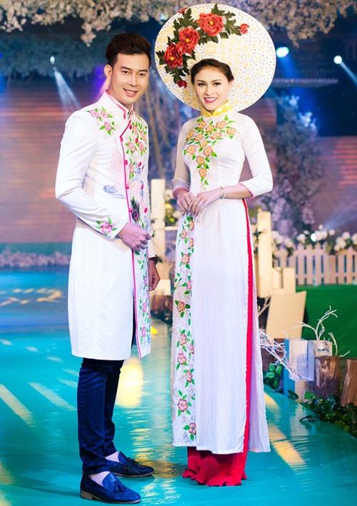 Phan Thị Mơ kiều diễm với áo dài cưới-9