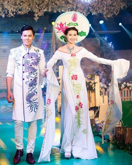 Phan Thị Mơ kiều diễm với áo dài cưới-1