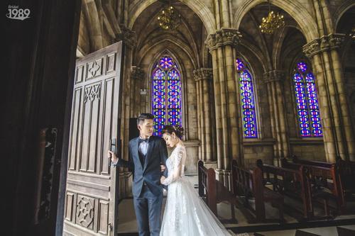 Quang Tuấn - Linh Phi khoe ảnh cưới đậm chất cổ tích-3