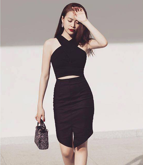 Ngắm thân hình sexy siêu gợi cảm của Hoàng Thùy Linh-11