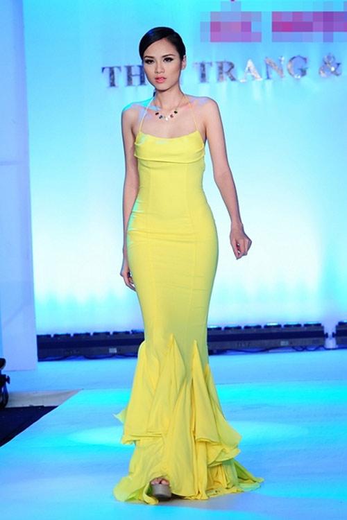 Hoa hậu Diễm Hương tự tin làm mẫu dù chỉ cao 1m71-9