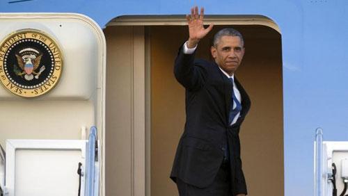 0h10 đêm nay, chuyên cơ của Obama hạ cánh xuống Nội Bài-1