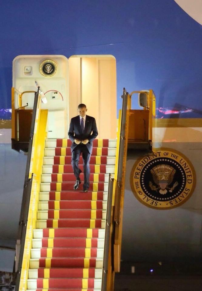 Tổng thống Obama đã đến Hà Nội-5