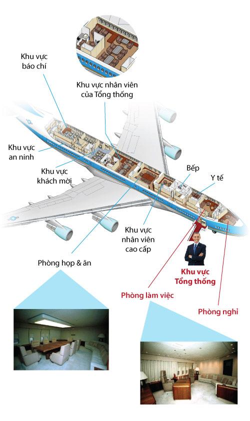 """[infographic] ben trong """"de nhat may bay"""" my vua toi vn - 2"""