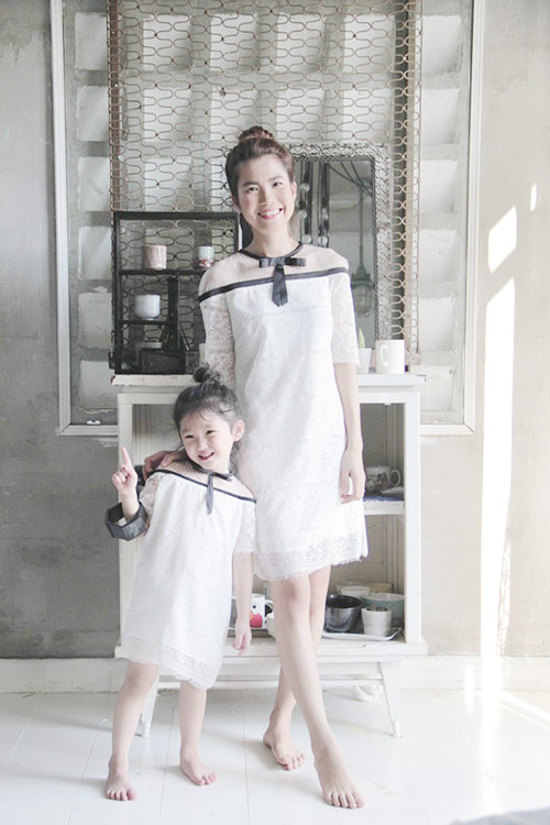 10 mẫu váy đôi ngọt ngào cho mẹ diện chung với con gái-4