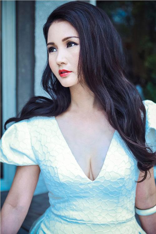 Hoa hậu Sương Đặng khéo khoe ngực tròn quyến rũ-4