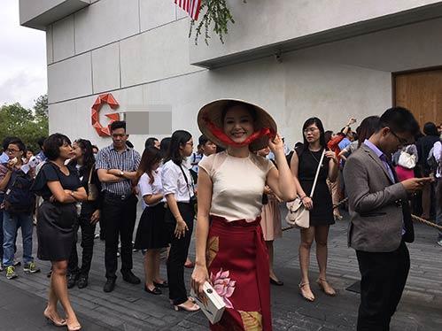 Lan Phương đội nón lá độc đáo dự cuộc gặp Tổng thống Obama-2