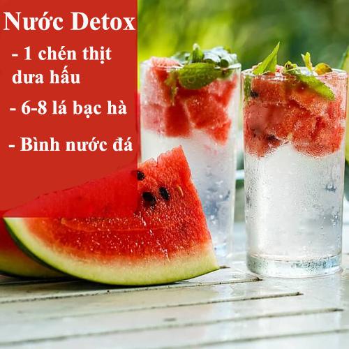 da min dang thon voi 10 loai nuoc detox - 10