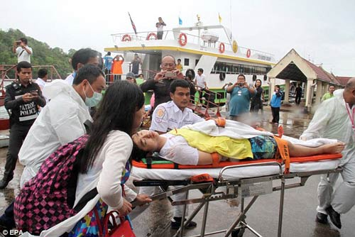 thai lan: hai tau cao toc va cham, 28 nguoi thuong vong - 2