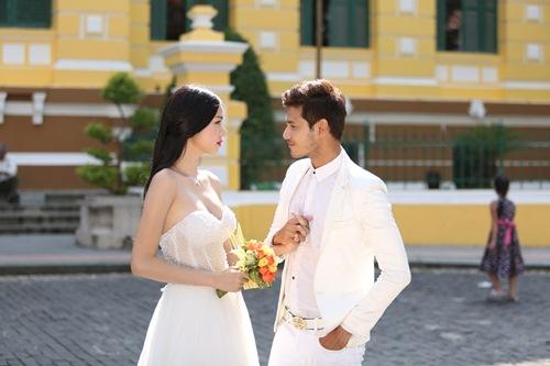 """Kỳ Hân gượng gạo chụp ảnh cưới với """"công tử"""" Anh Tài-1"""