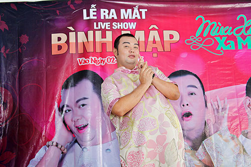 phuc beo, uyen thao tham gia liveshow tu thien cua binh map - 4