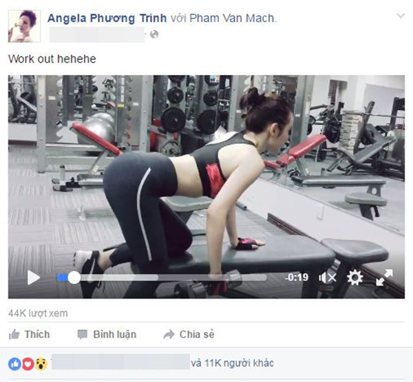 angela phuong trinh bi boc lam mau qua da khi tap gym - 1