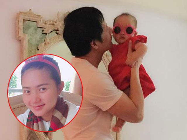 Vừa chiều vợ vừa khéo chăm con, chồng Phan Như Thảo xứng danh ông bố đảm