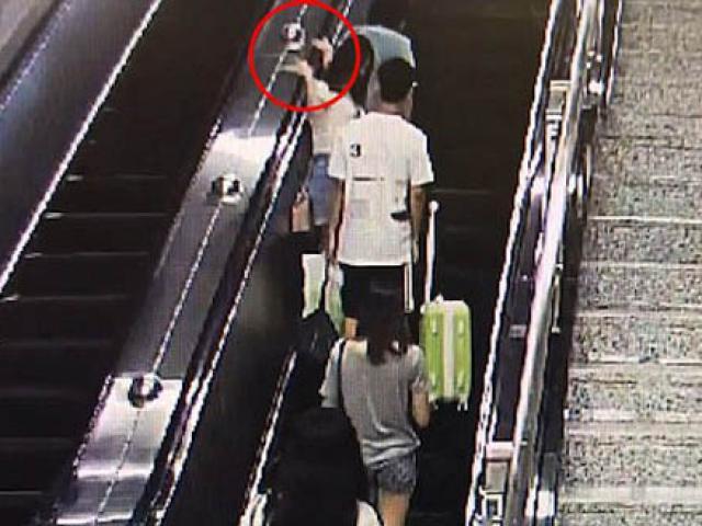 Video: Cô gái thẳng tay tát tên yêu râu xanh sờ mông mình ngay trên thang máy