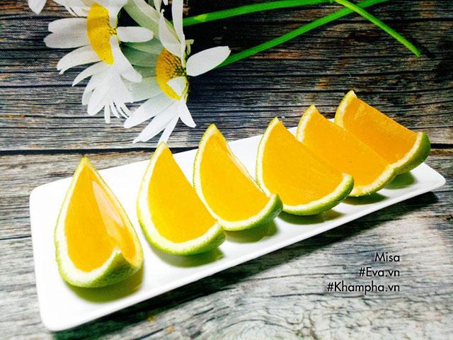 Thạch cam thơm mát, bổ sung vitamin C cho ngày hè