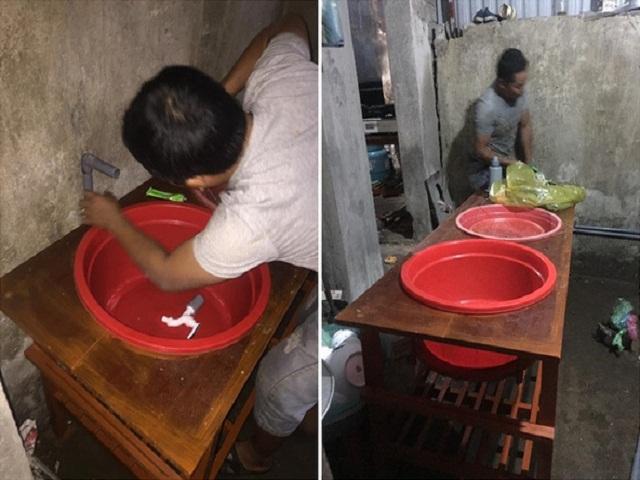 Chị em phát sốt với ông chồng Việt tự tay chế bồn rửa bát để vợ đỡ đau lưng