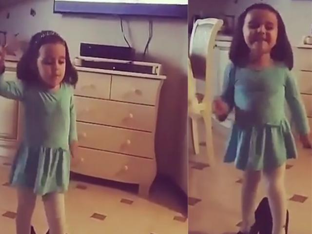 [Video] Cô bé vừa mang giày cao gót vừa nhún nhảy thu hút hơn 15 triệu lượt xem