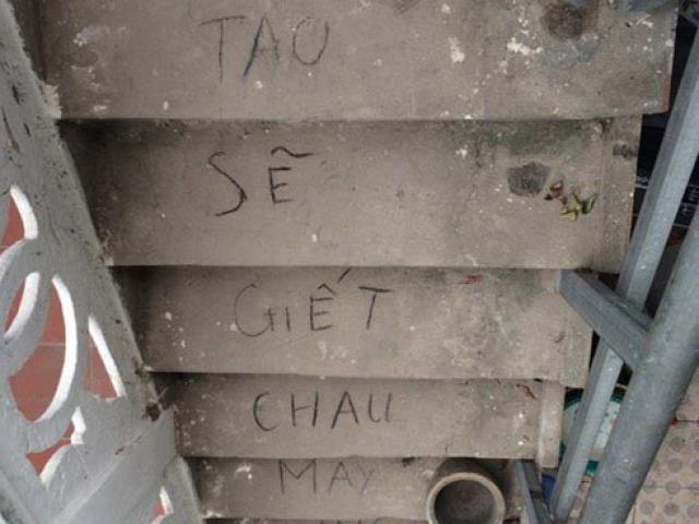 Vụ bé 33 ngày tuổi chết trong chậu tắm: Dòng chữ lạ ở chân cầu thang Tao sẽ giết cháu mày